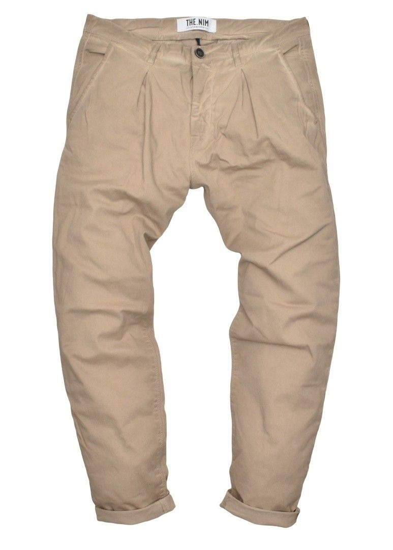 THE NIM - Herren Hose - Chino Pince Man Slim Tapered Fit - Faded Gravel