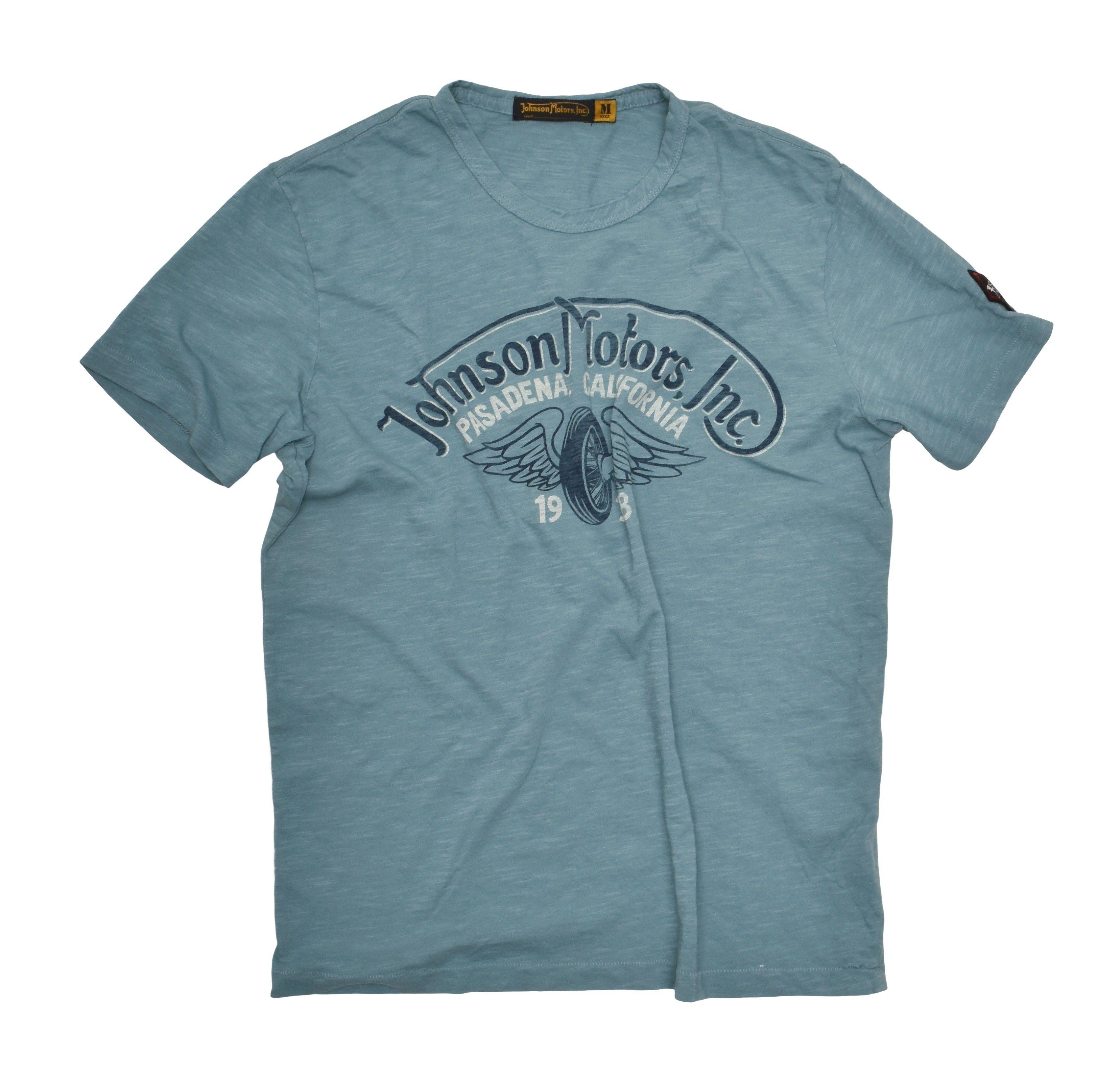 JOHNSON MOTORS - Herren T-Shirt - Winged Wheel - Robin Egg