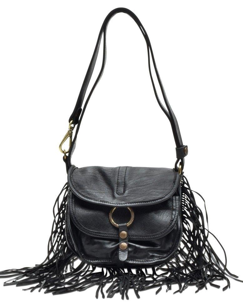 CAMPOMAGGI - Damen Tasche - Shoulder Bag Small - Black
