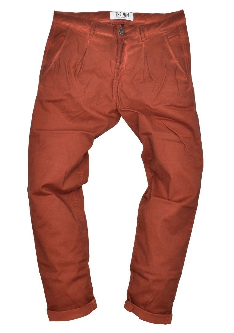 THE NIM - Herren Hose - Chino Pince Man Slim Tapered Fit - Faded Burnt Orange