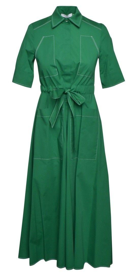 BEATRICE.B - Damen Kleid - Baumwollkleid mit Stickerei - Green