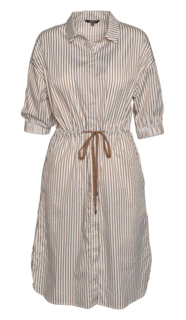 PRINCESS GOES HOLLYWOOD - Damen Kleid - Dress Gold Stripe - Clear White