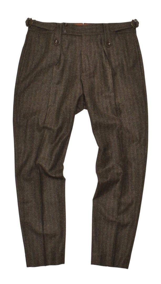 PT TORINO - Herren Hose - Deluxe Wool - Fischgrat Khaki