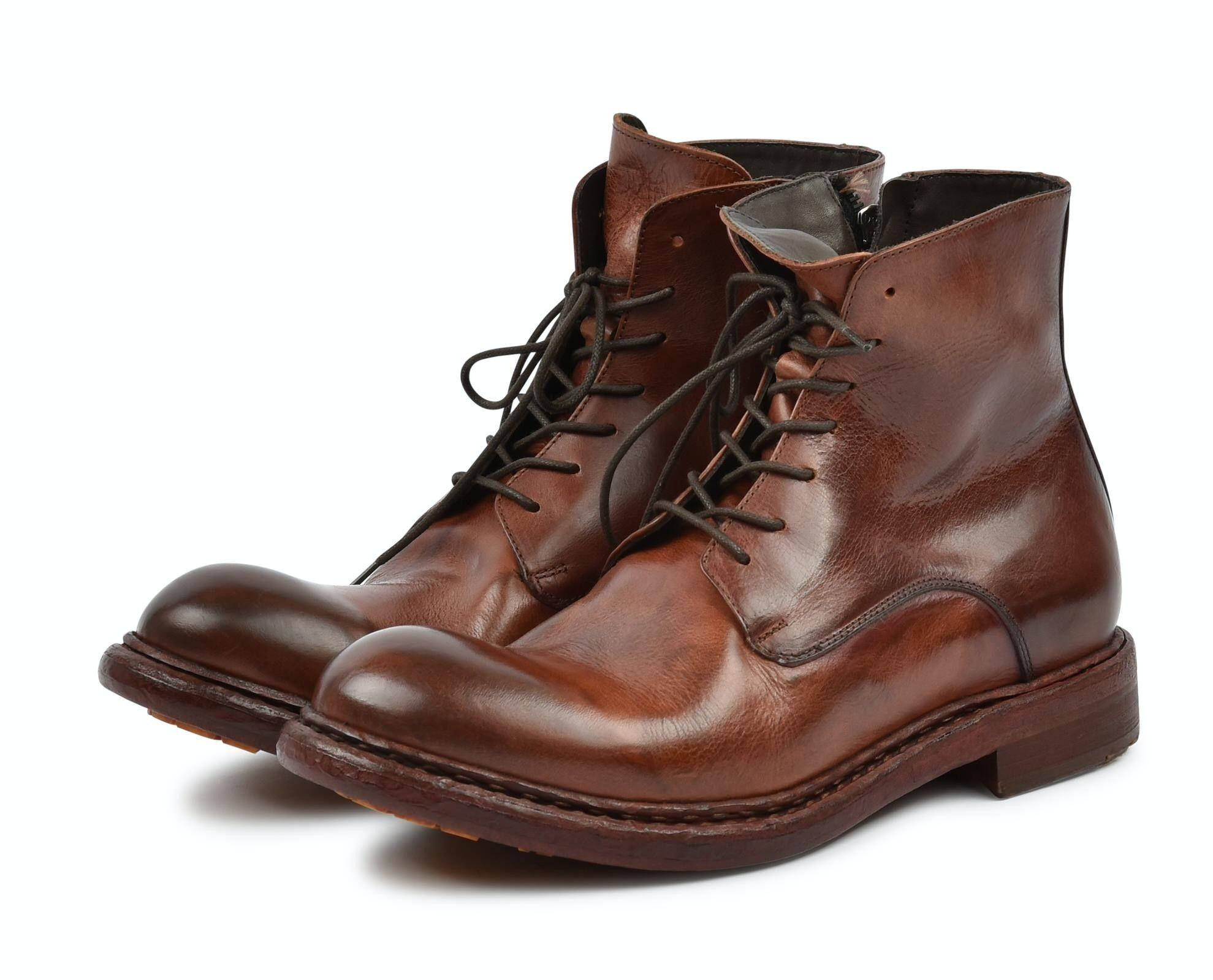CRISPINIANO - Herren Schuhe - Macai Brandy Cuoio Roccia Giallo - Brandy