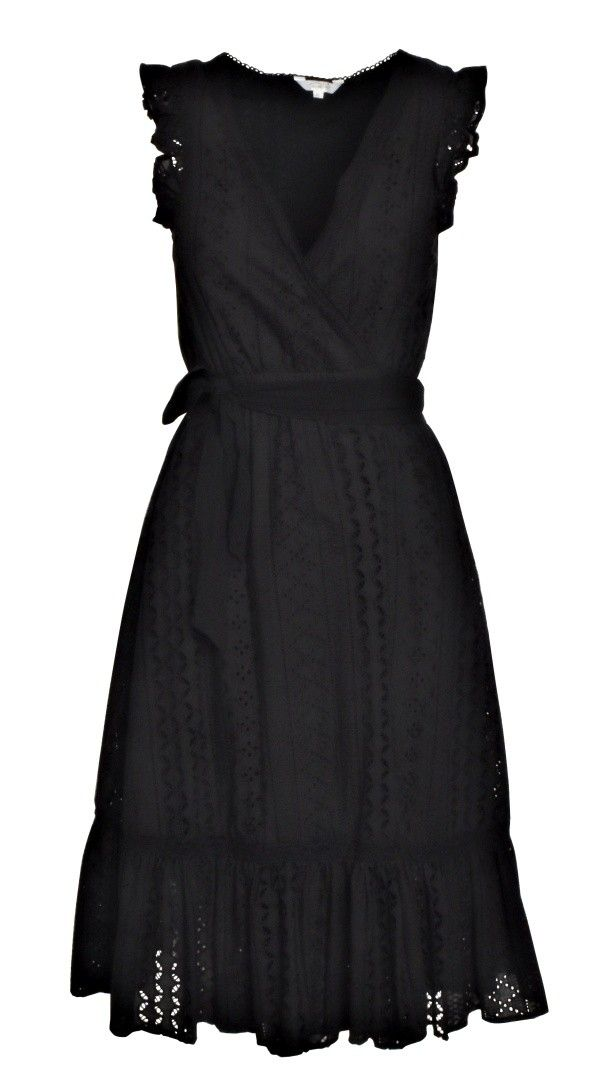 FROGBOX - Damen Kleid - Midi Kleid - Nero
