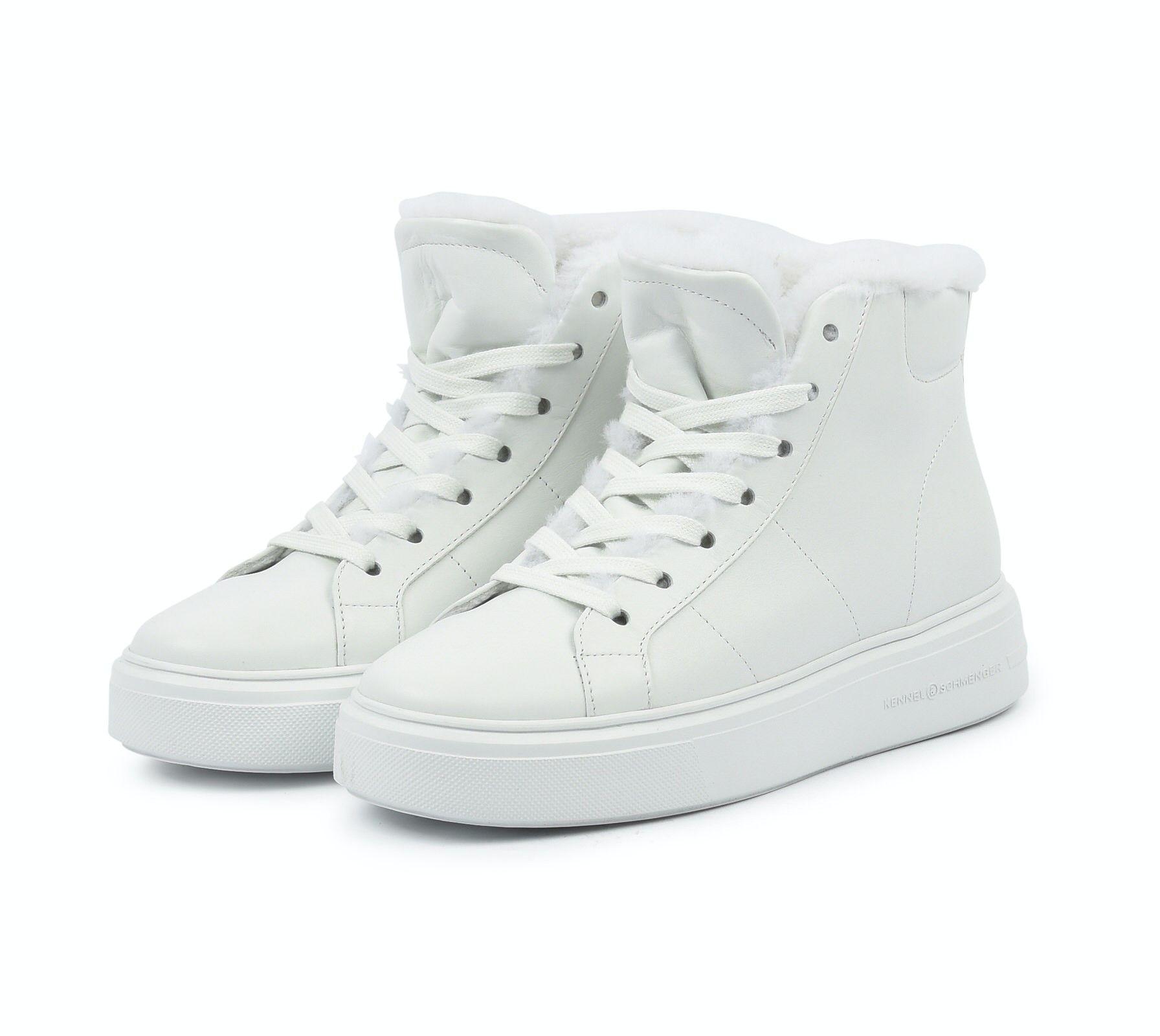 KENNEL & SCHMENGER - Damen Sneaker - Pro Calf/Lammfell - Bianco/Weiss