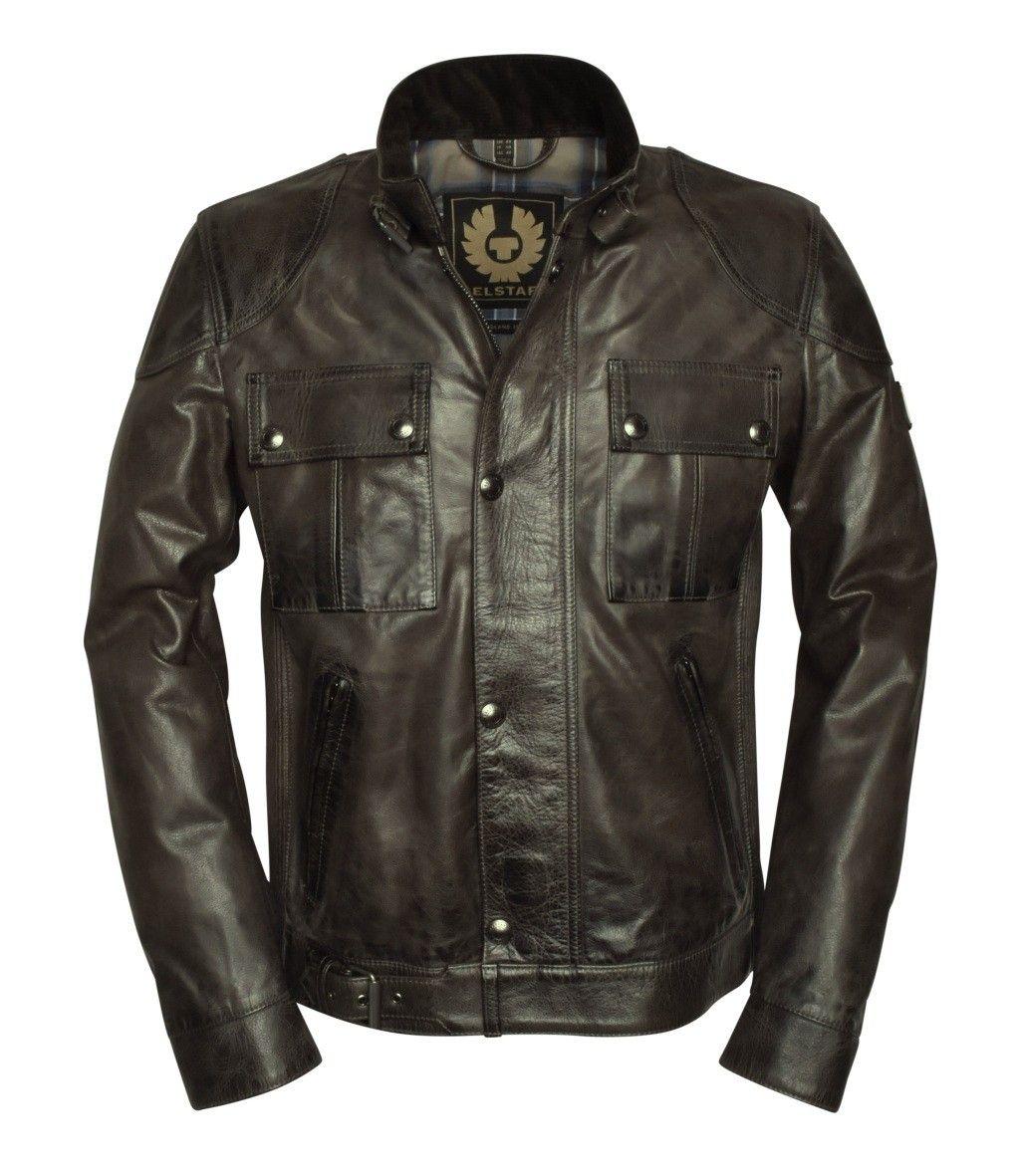 BELSTAFF - Herren Lederjacke - Gangster 2.0 Jacket - Sage Green