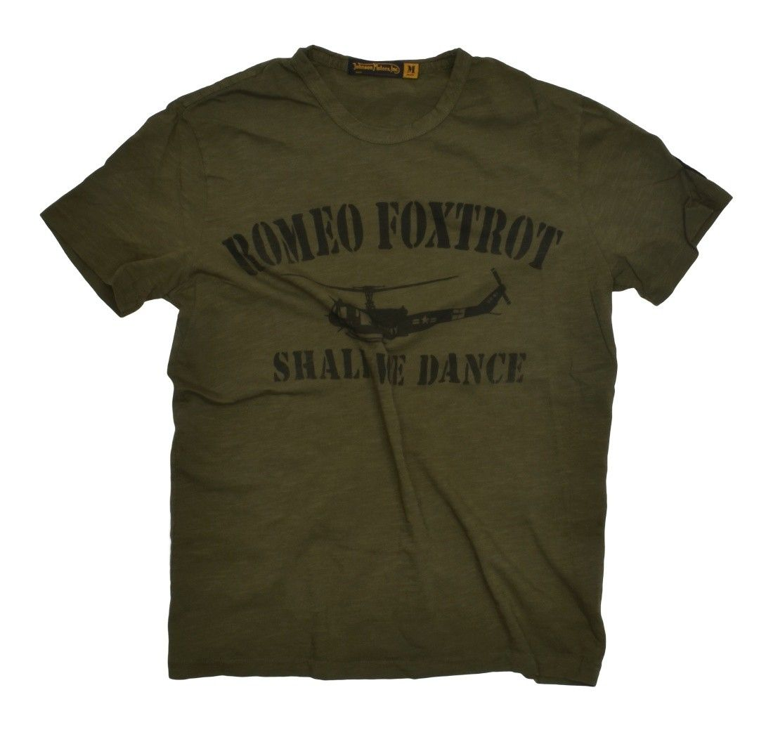 JOHNSON MOTORS - Herren T-Shirt - Romeo Foxtrot - Olive Drap