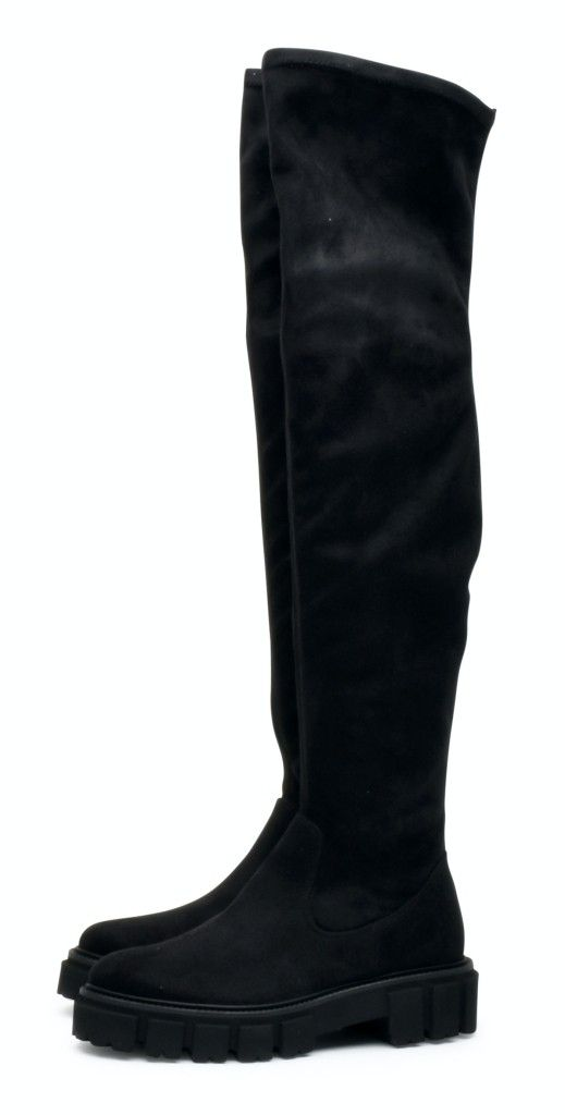KENNEL & SCHMENGER - Damen Stiefel - Vellutato Strech Over-Knee - Black