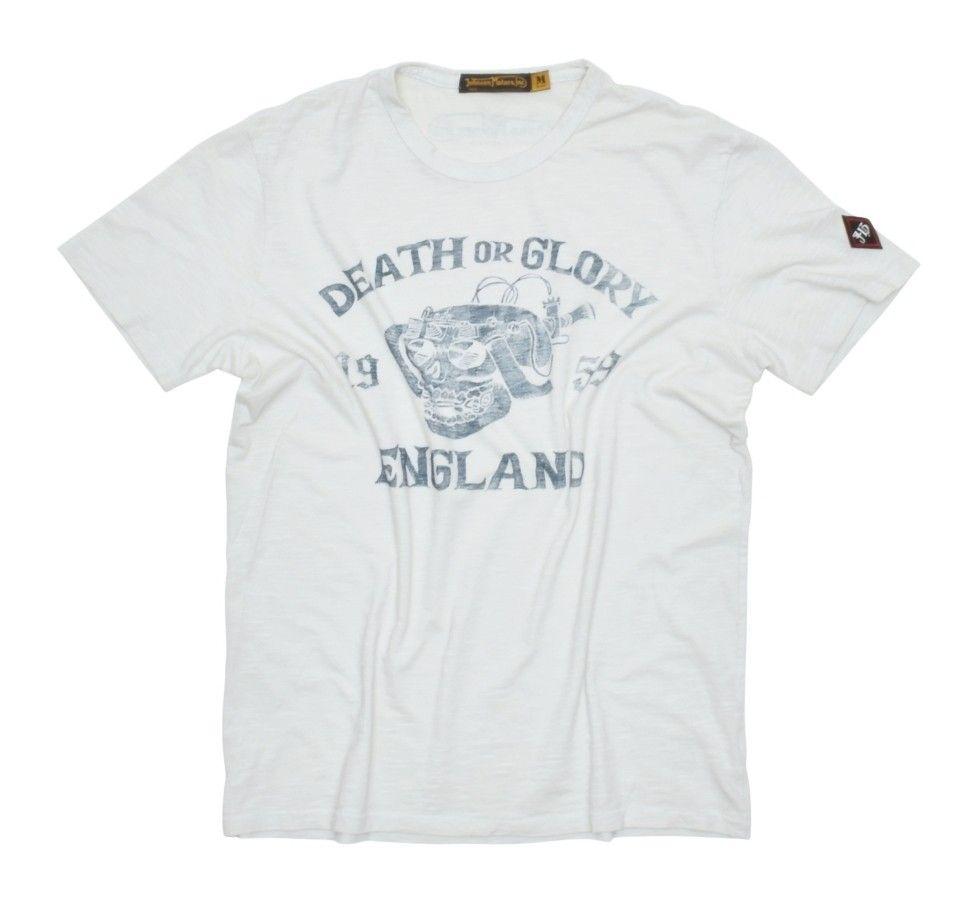 JOHNSON MOTORS - Herren T-Shirt - Death or Glory - White Sand