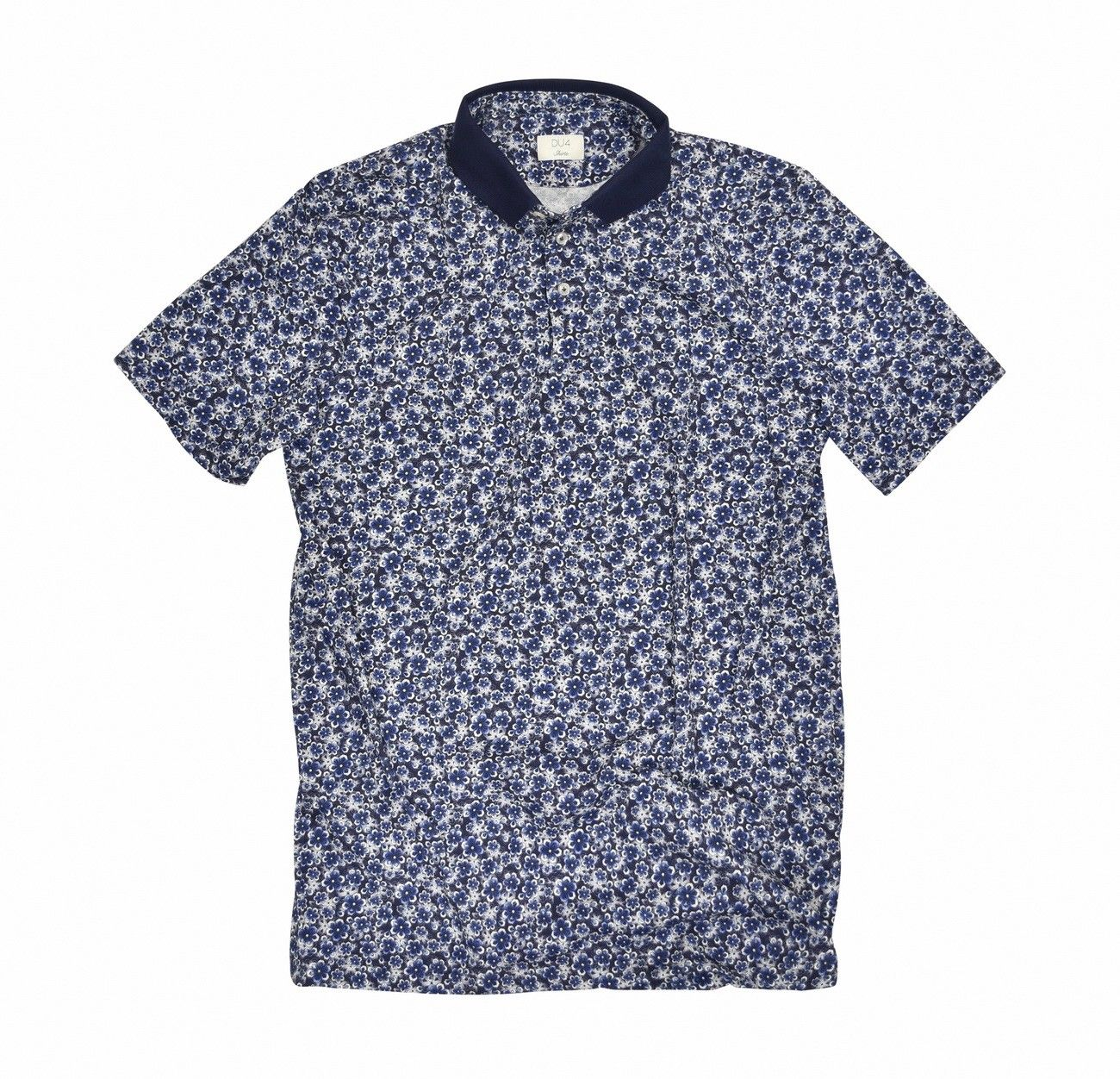 DU4 - Herren Polo Shirt - Piet - Flower Blue