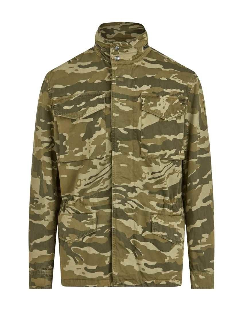 BELSTAFF - Herren Jacke - Fieldwood Camo Jacket - Military Olive
