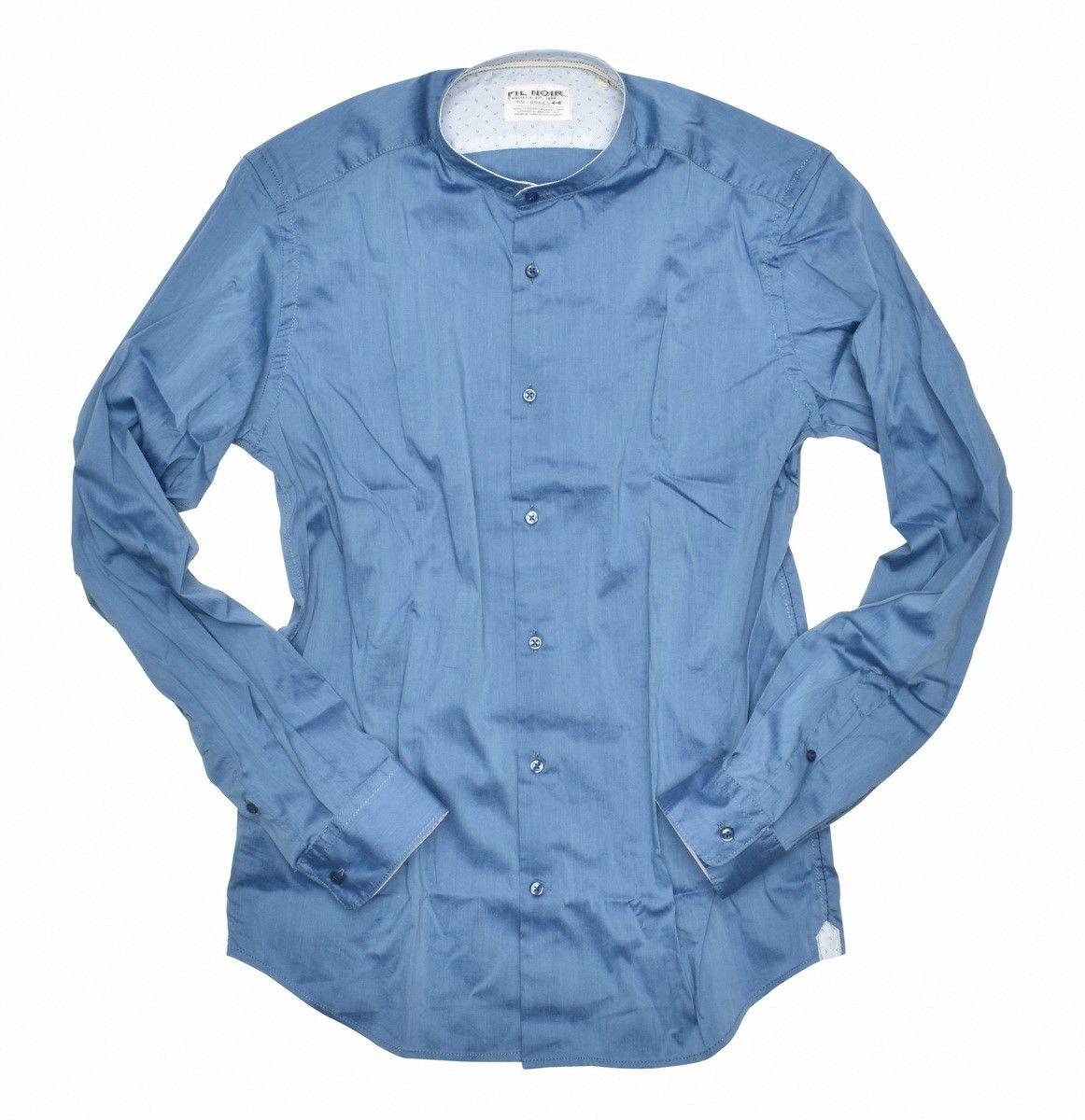 FIL NOIR - Herren Hemd - Piacenza Shaped Fit - Blue