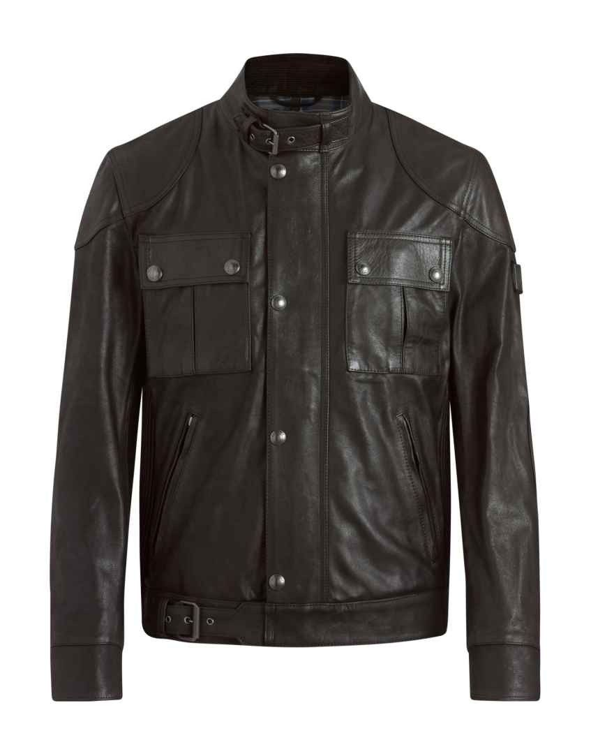 BELSTAFF - Herren Lederjacke - Gangster 2.0 Jacket - Black