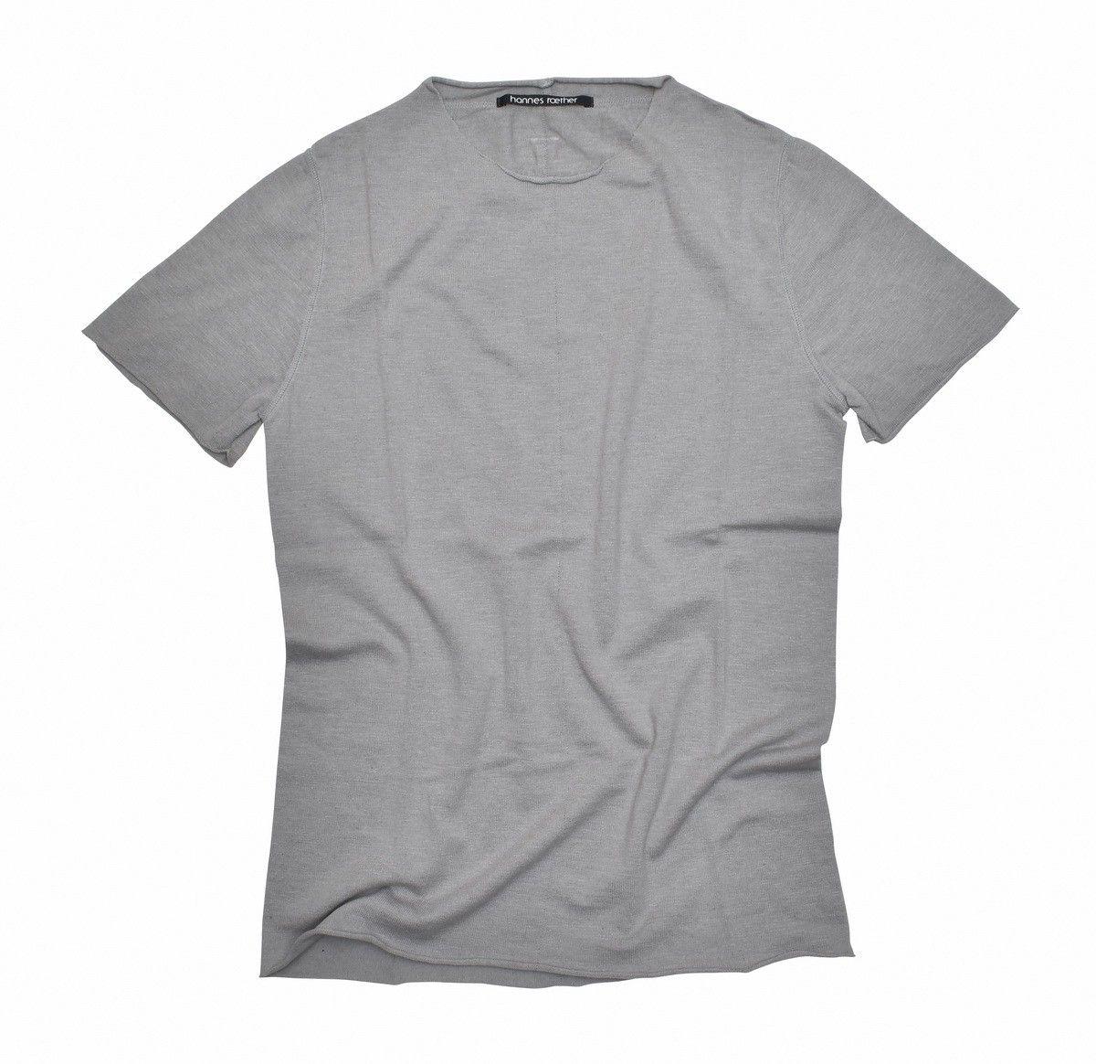 HANNES ROETHER - Herren Strick T-shirt Funes - Beton
