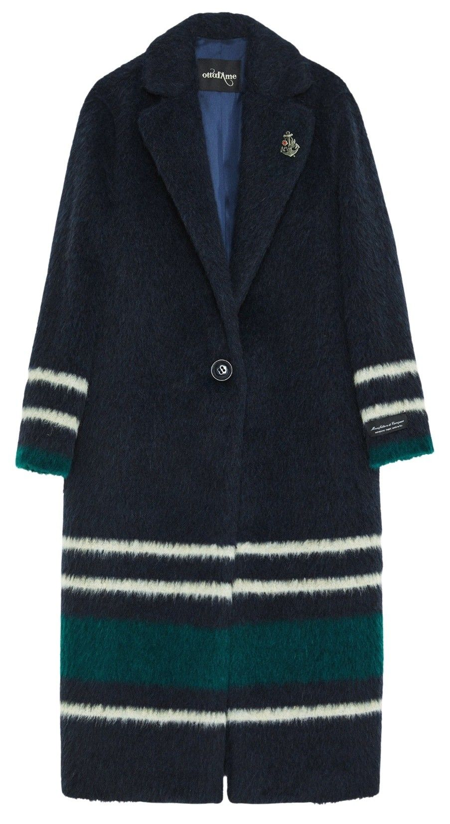OTTOD´AME - Damen Mantel - Giacca Jacket - Navy with stripes