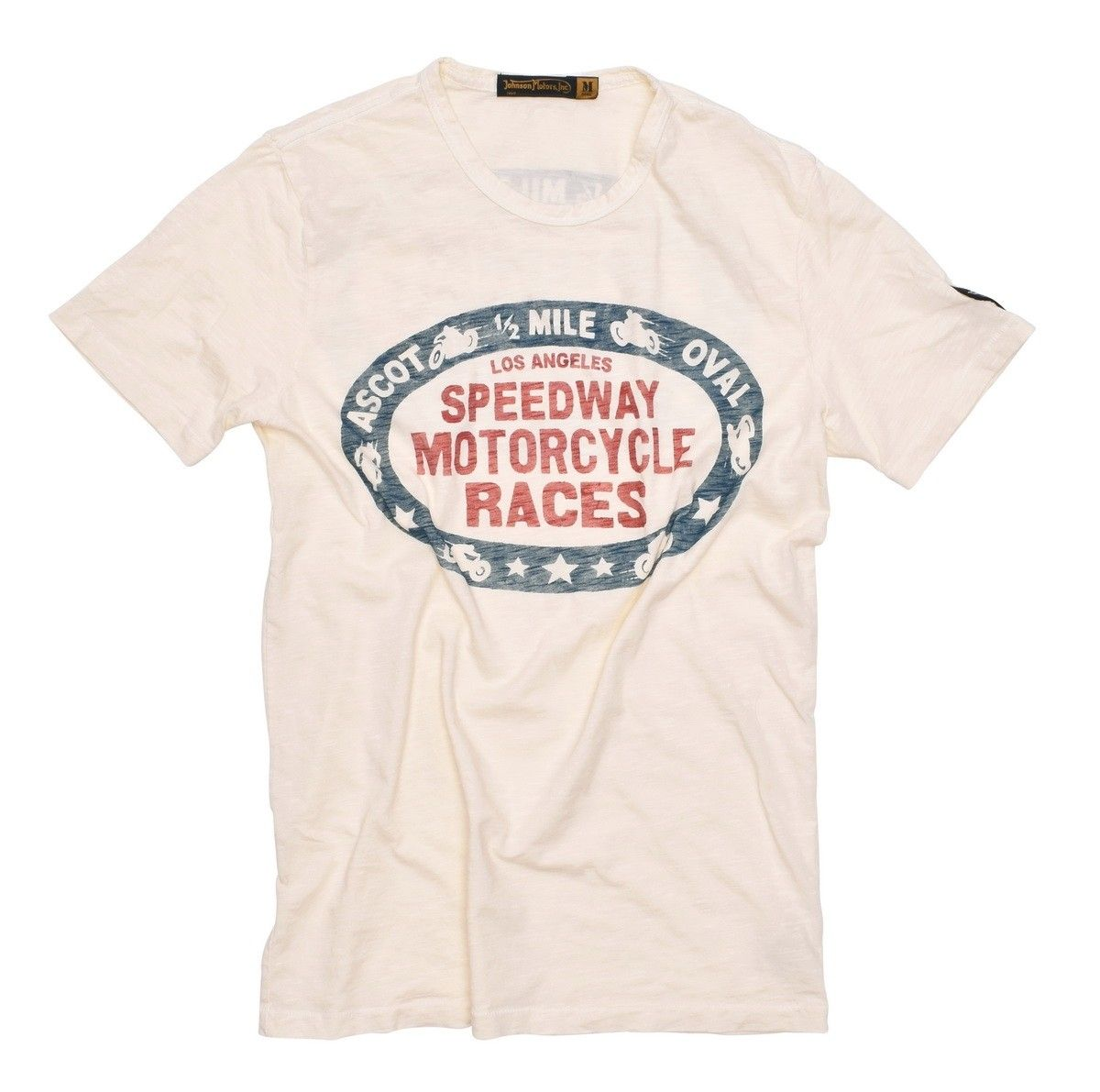 JOHNSON MOTORS - Herren T-Shirt - ASCOT - Dirty White