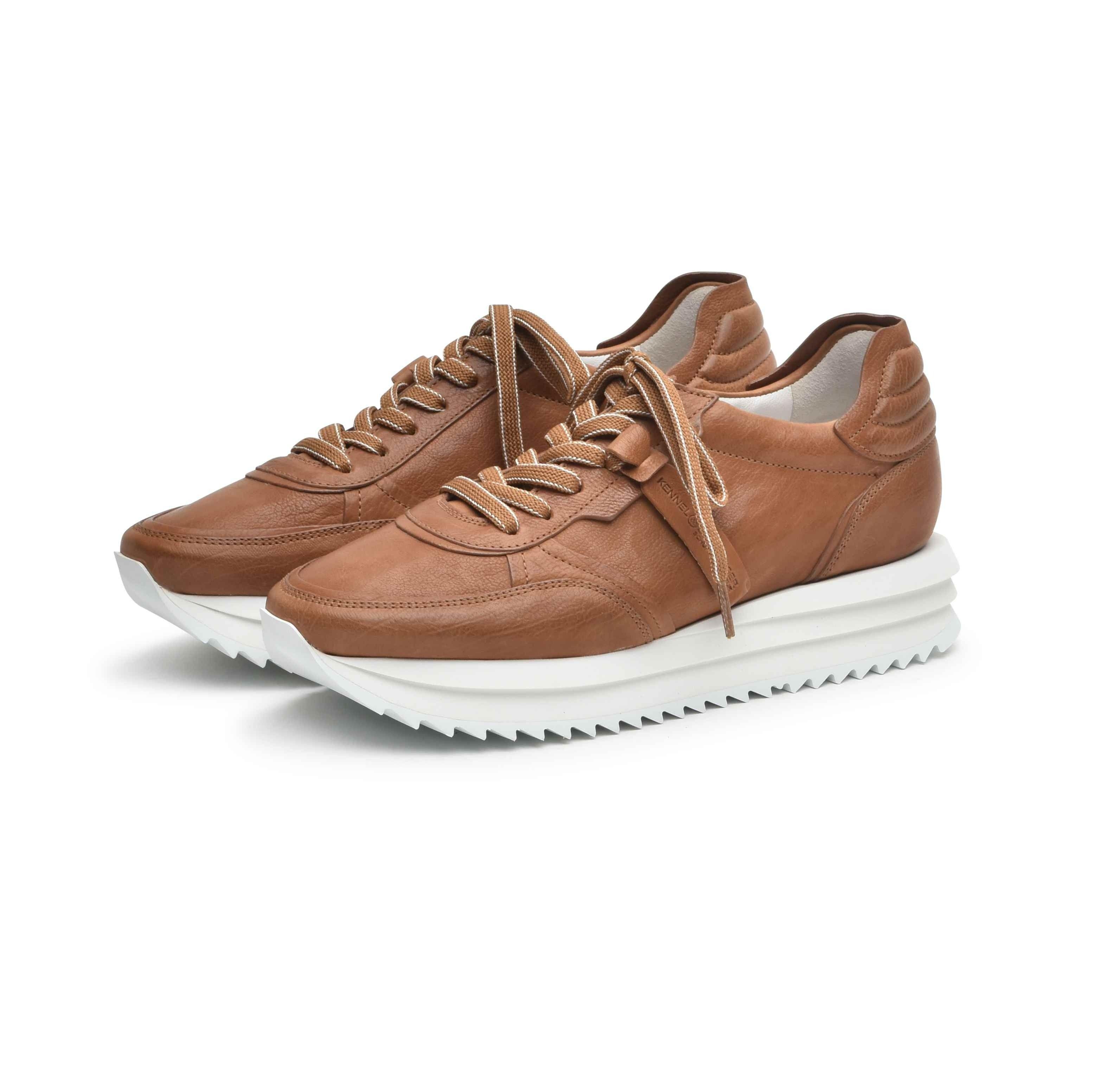 KENNEL&SCHMENGER - Damen Sneaker - Jazz - Bianco/Caramel