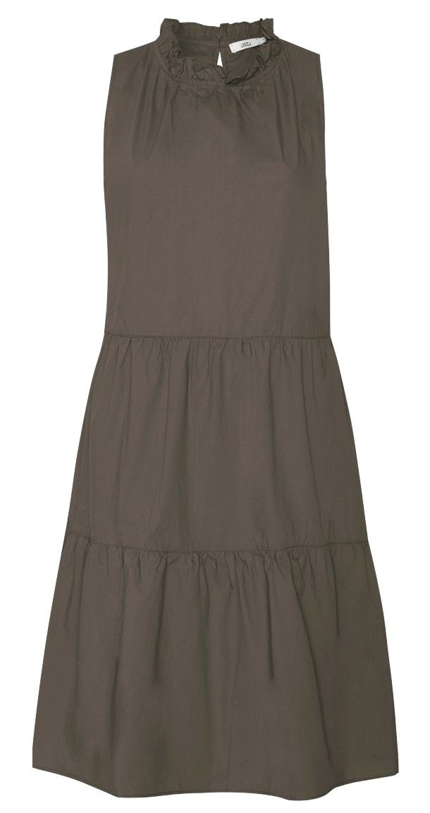 0039 ITALY - Damen Kleid - Karima Dress - Khaki