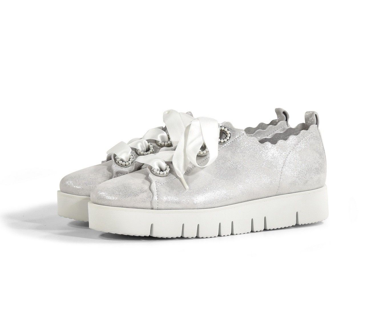 KENNEL & SCHMENGER - Damen Schuh - Assam Washed - White/Pearl