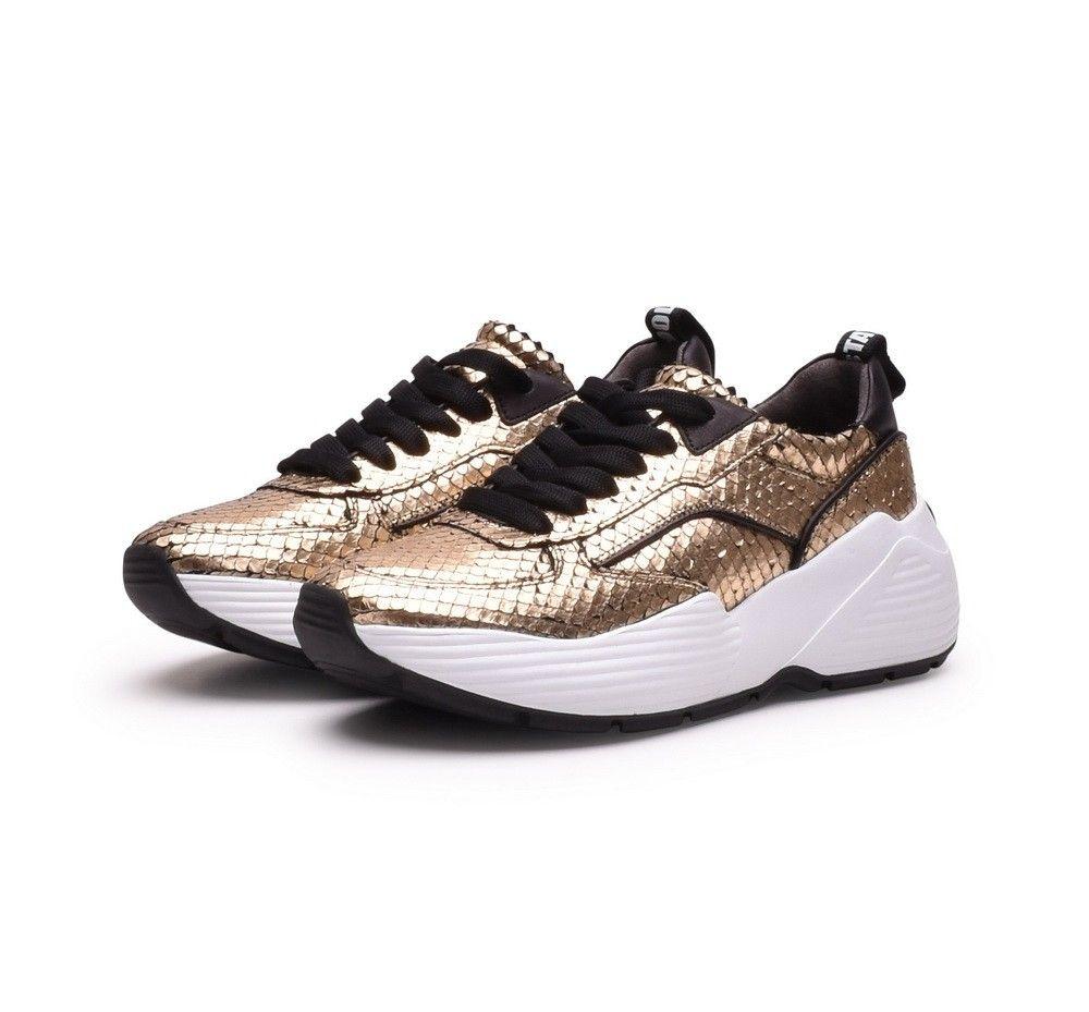 KENNEL&SCHMENGER - Damen Sneaker - Reptil - Gold/Black