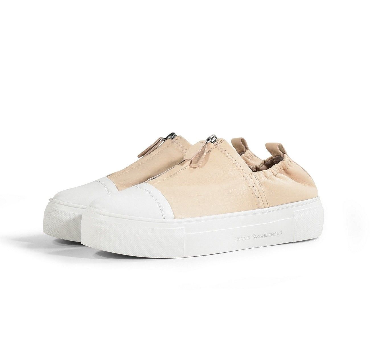 KENNEL & SCHMENGER - Damen Sneaker - Caf/Nappa-S - Bianco/Nudo