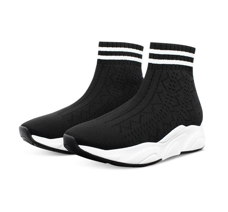 KENNEL & SCHMENGER - Damen Sneaker - Stretch Sock - Schw/Weiss S