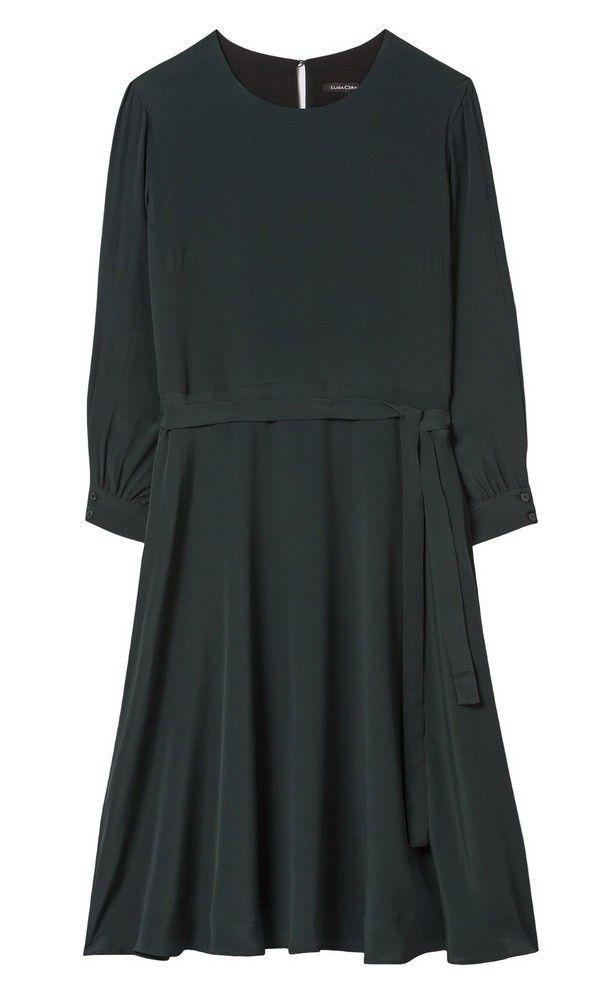 LUISA CERANO - Damem Kleid - Seidenkleid - Emerald Green