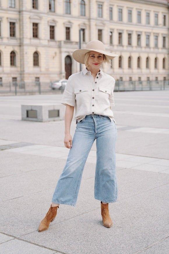 SET - Damen Jeans - Organic Cotton - Hellblau