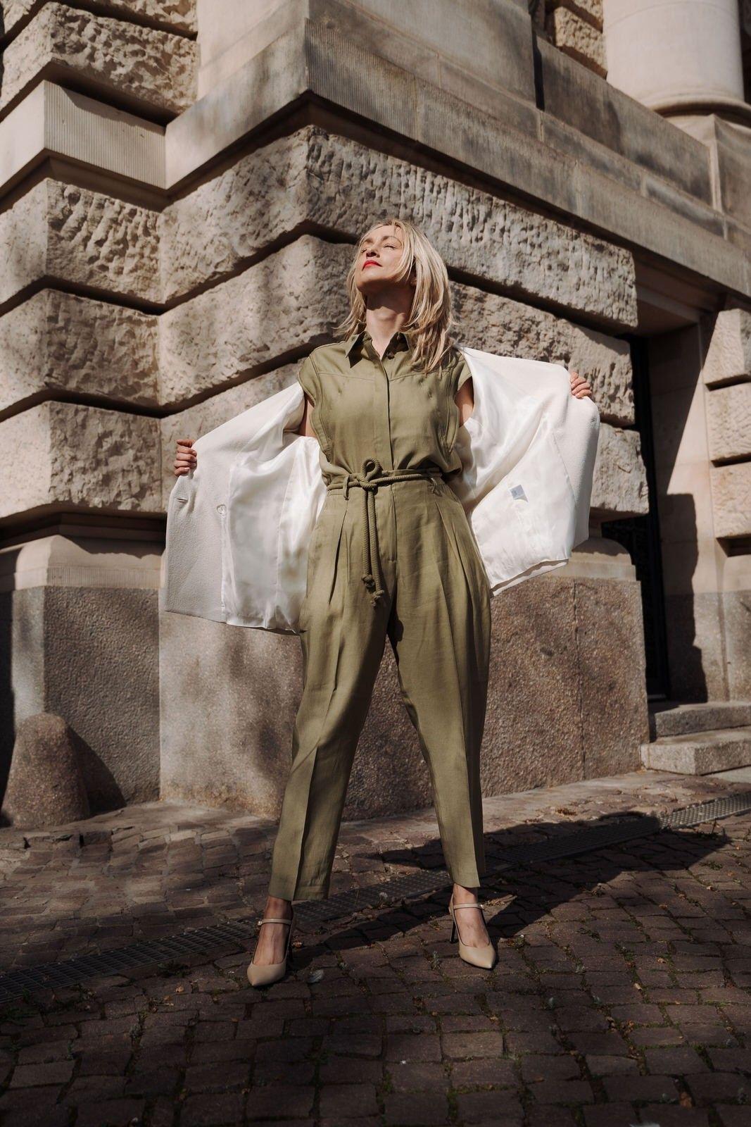 COPENHAGEN MUSE - Damen Bluse - Moss Green