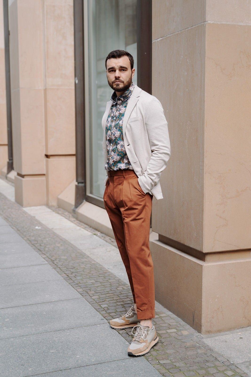 PT TORINO - Herren Hose - Carrot Fit Pantalone - Ruggine