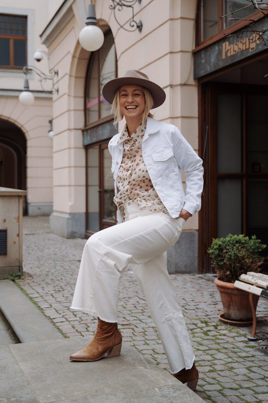 LUISA CERANO - Damen Bluse - Organza Multi