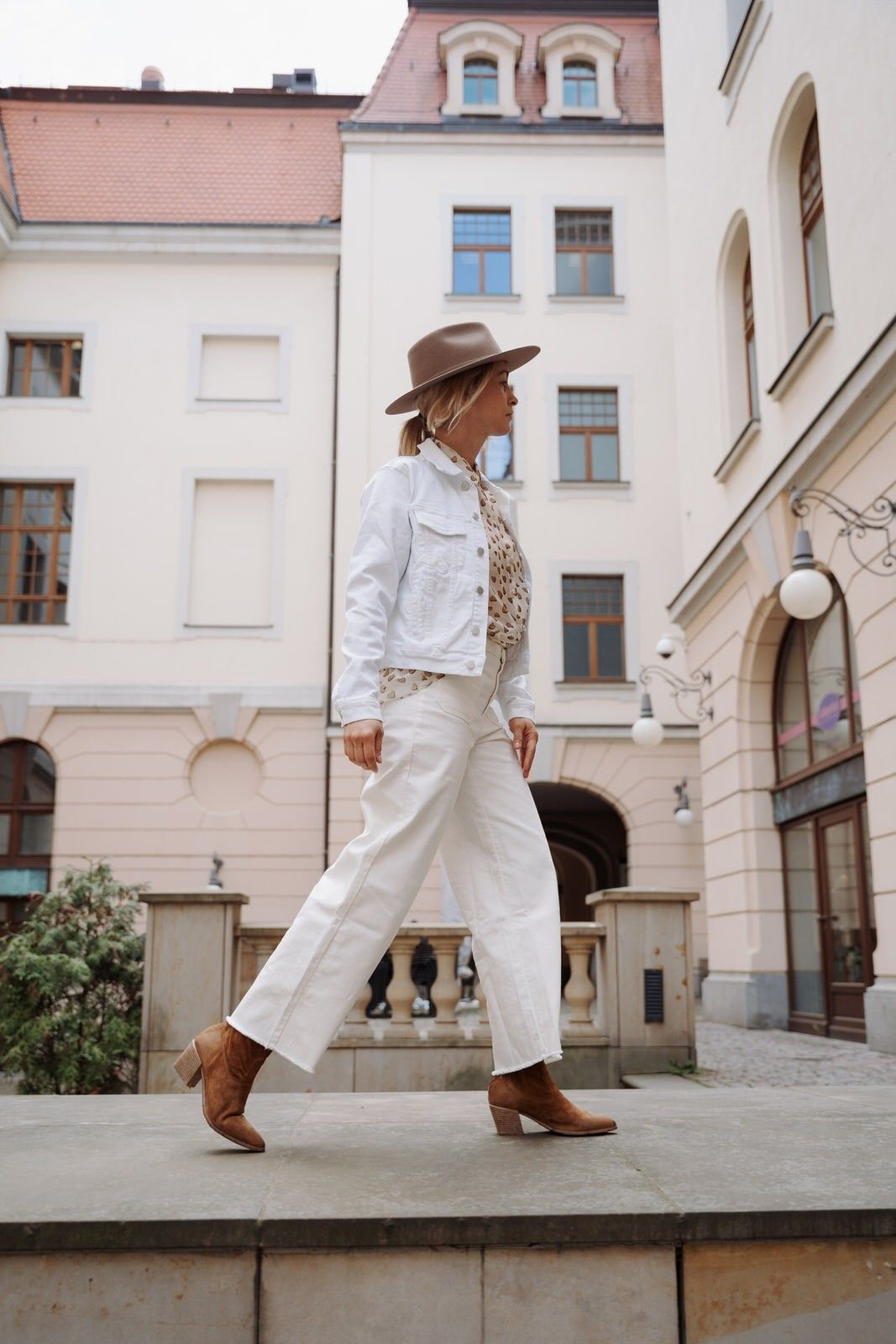 OTTOD´AME - Damen Hose - Pantalone - Cropped - Bianco