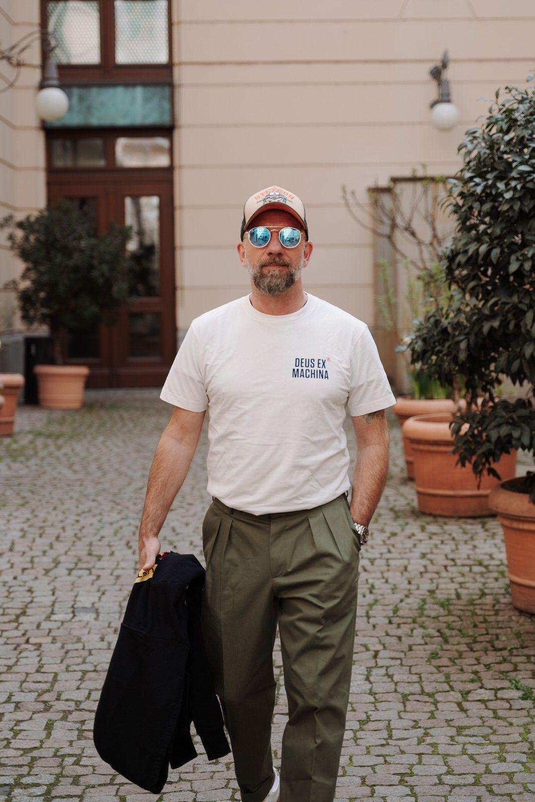 DEUS EX MACHINA - Herren T-Shirt - Panorama Tee - Vintage White