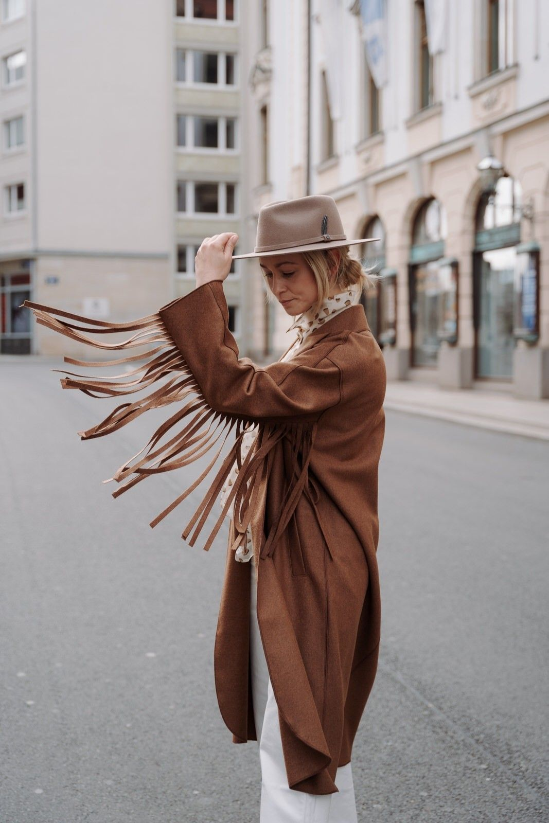 LUISA CERANO - Damen Wollmantel - Detail-Bambi