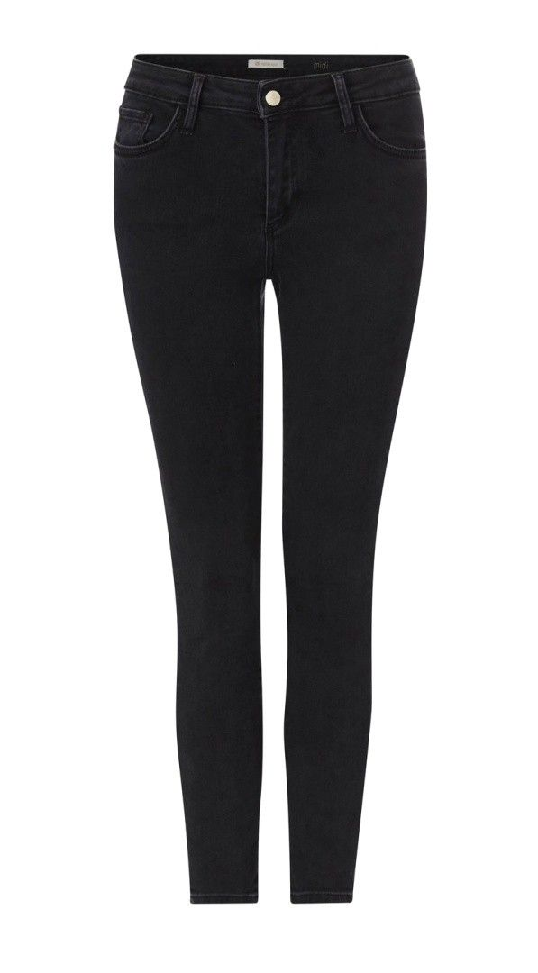 RICH & ROYAL - Damen Jeans - Midi Jeans - Black