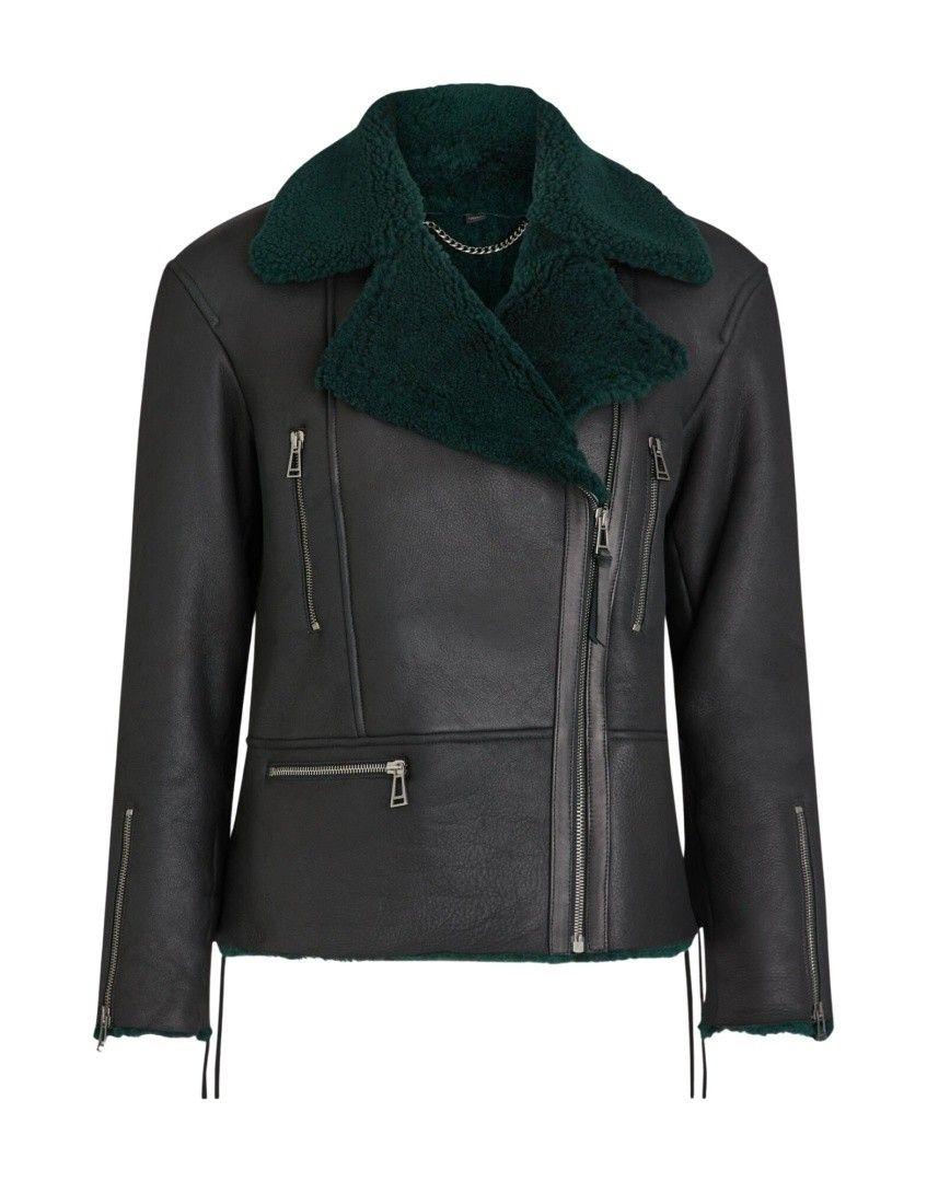 BELSTAFF - Damen Lederjacke - Maebry Jacket - Black / Pine