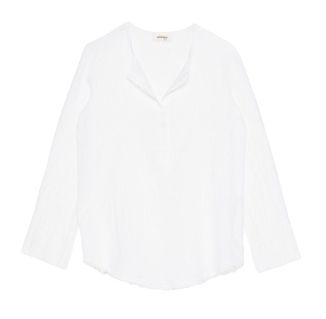 OTTOD´AME - Damen Bluse - Camicia - Bianco