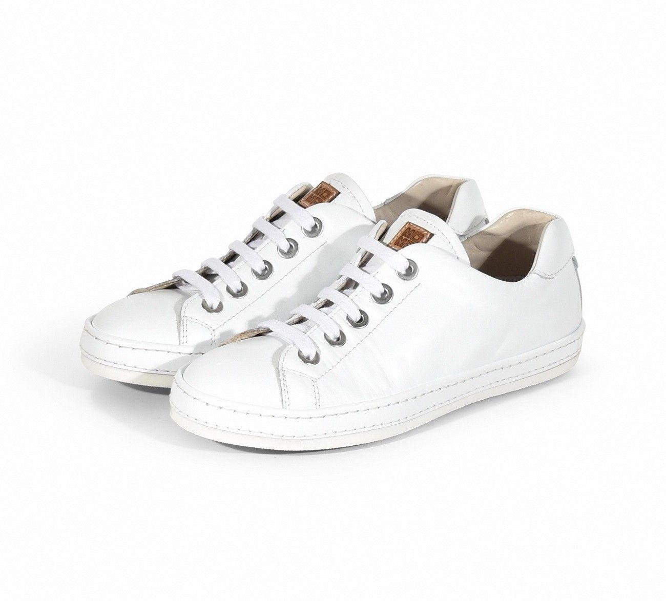 MOMA - Damen Sneaker - Polo Bianco 30801-PA - Plume Donna