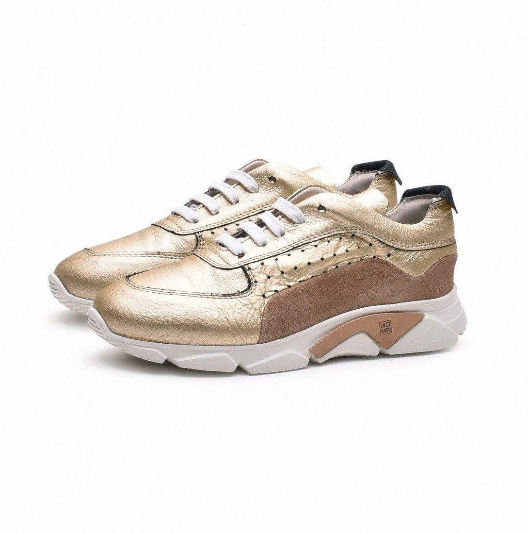 MOMA - Damen Sneaker - Newport 32901-DE - Platino