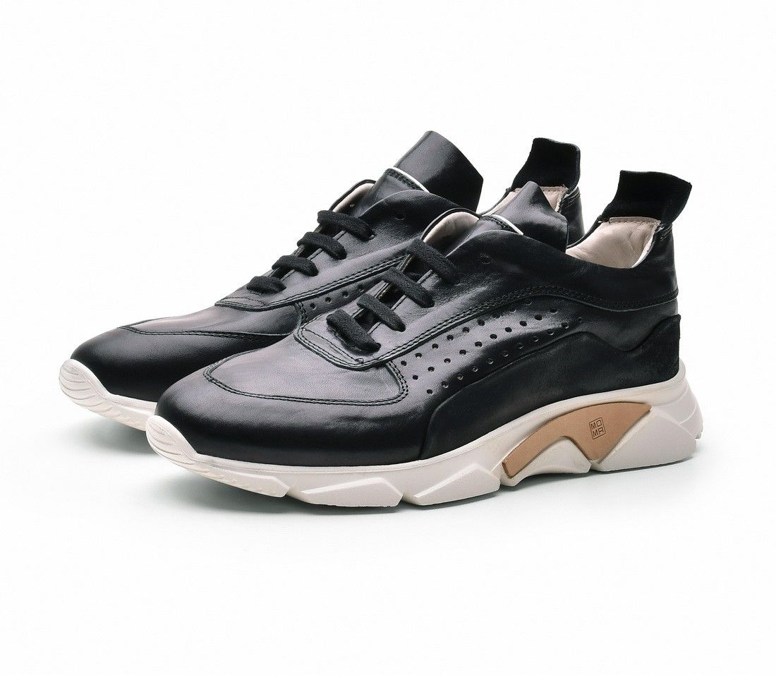 MOMA - Herren Sneaker - Allacciata Florence 4AS018-FB - Nero