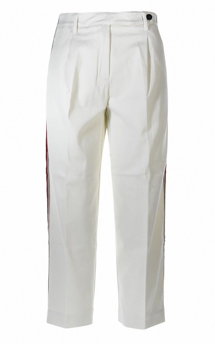 MYTHS - Damen Hose - Pantalone Banda - White
