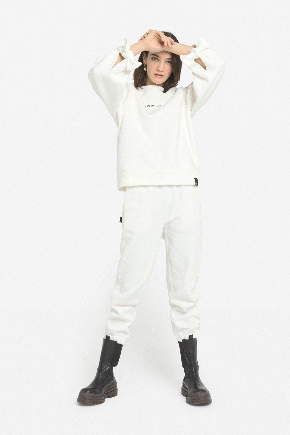 OTTOD´AME - Damen Sweater - Maglia Shirt - Panna