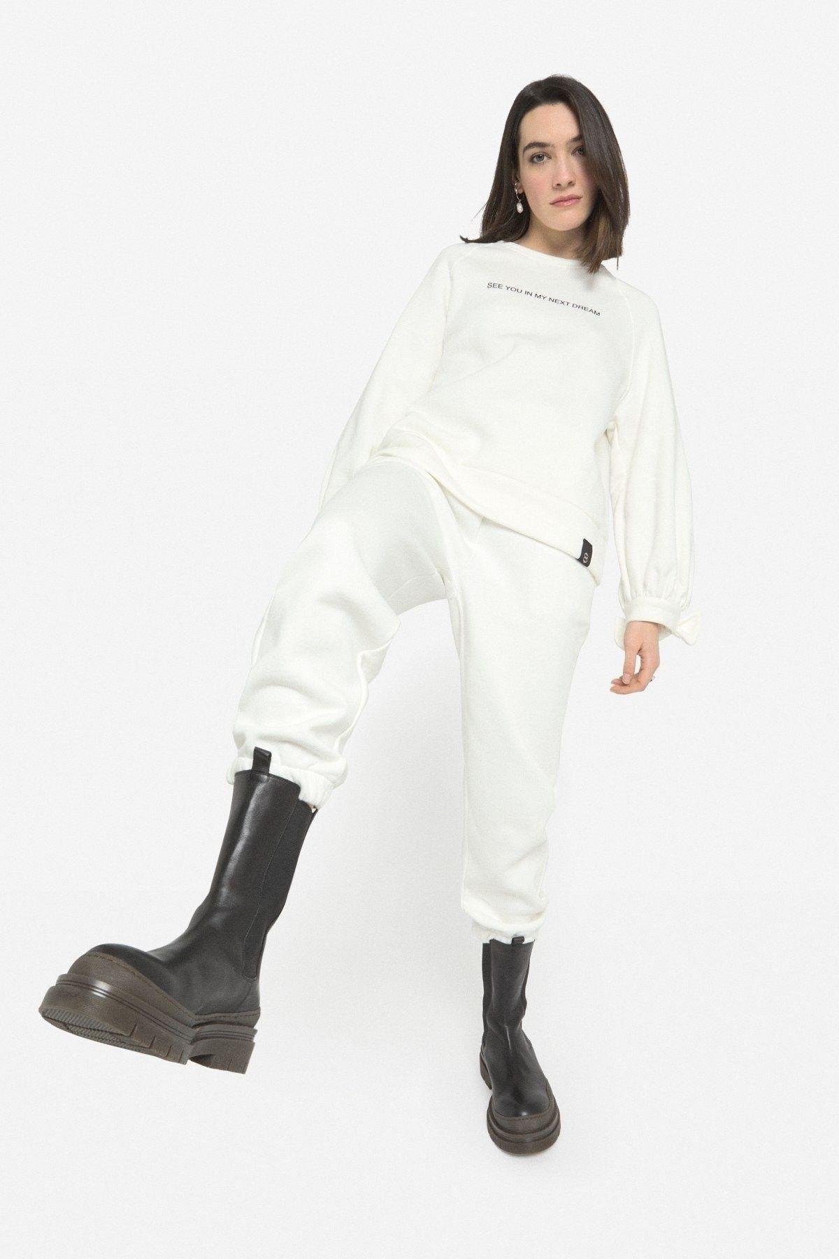 OTTOD´AME - Damen Hose - Pantalone Pants - Panna