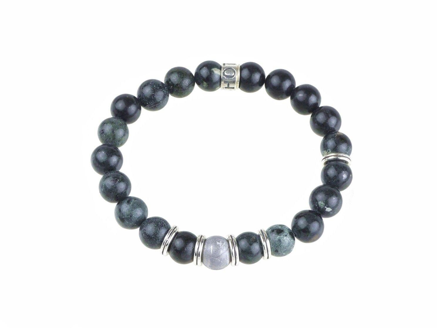 SHOTO STERLING - Sterling Armband - Gibeon Meteorit, Kimberlit, Silber