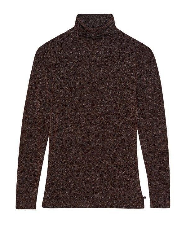 OTTOD'AME - Damen Pullover - Camicia Rollkragen - Cacao