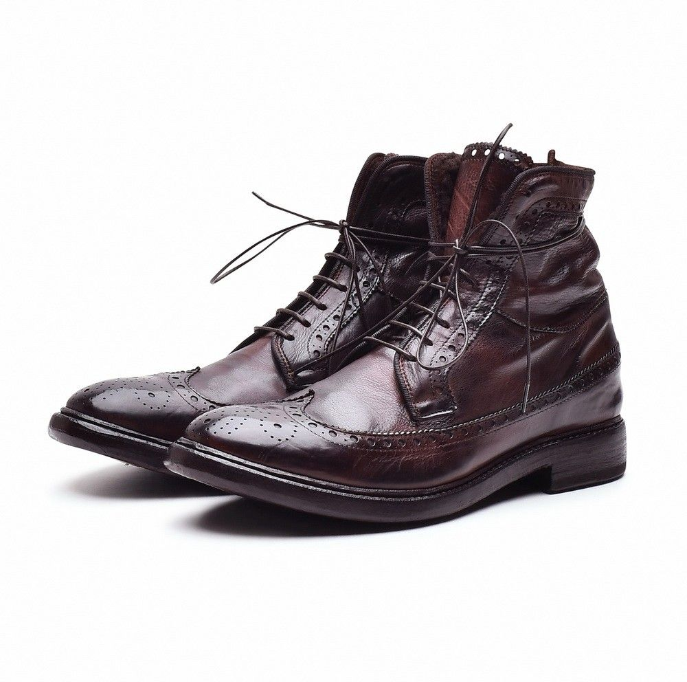 PREVENTI - Herren Schuhe - David Loftus - Lammfell - Rostrot