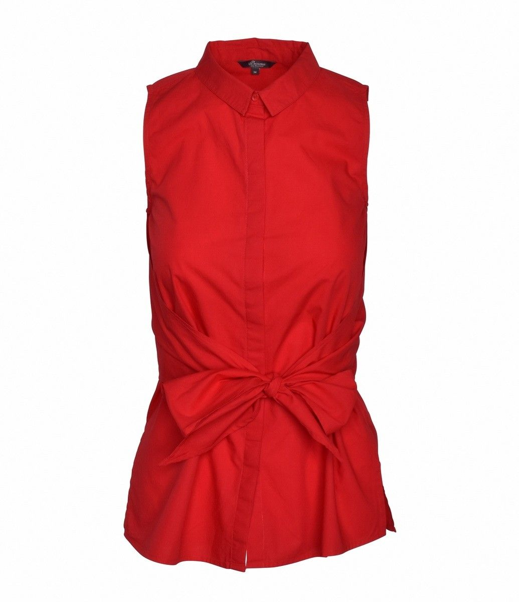 PRINCESS GOES HOLLYWOOD -  Damen Bluse - Sleeve less Blouse - Firebrick