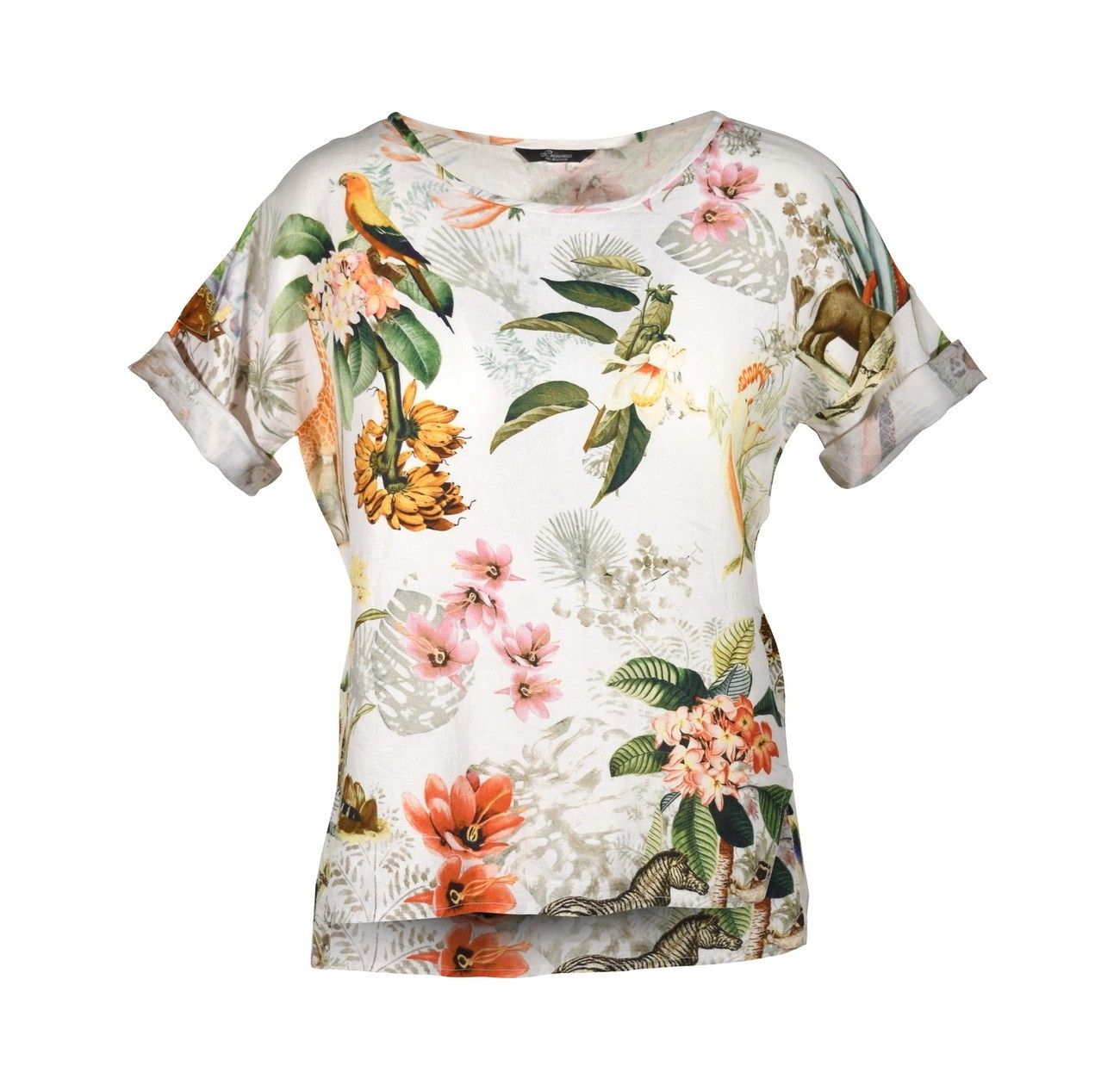 PRINCESS GOES HOLLYWOOD - Leinenbluse - Linen Sporty Shirt - Exotic Animals White