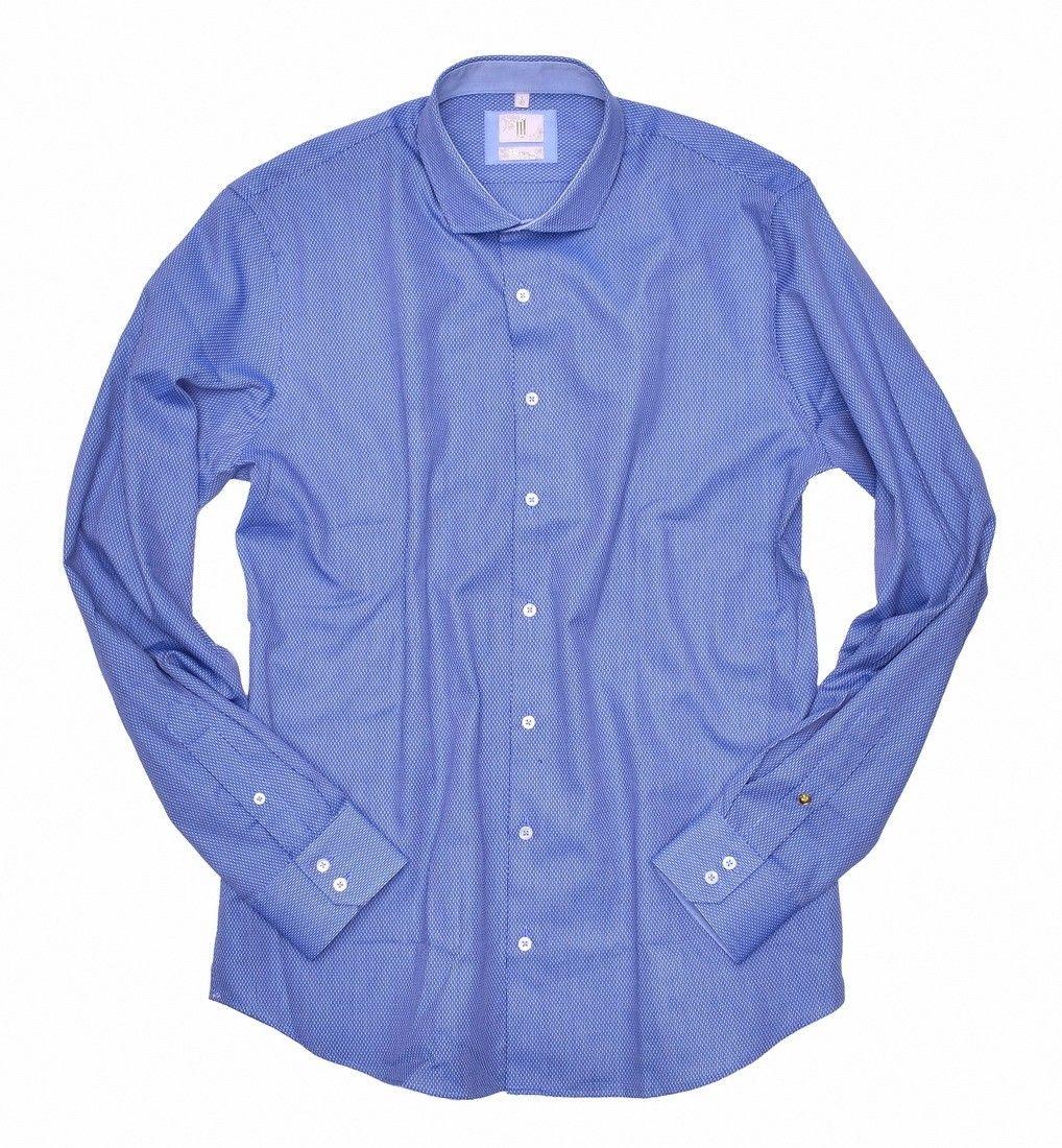 Q1 - Herrenhemd - Signature - Blau Weiß